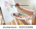 art  creativity and people... | Shutterstock . vector #1024133086