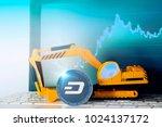 dash mining concept  miniature... | Shutterstock . vector #1024137172