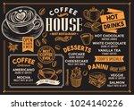Coffee Restaurant Menu. Vector...