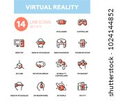 virtual reality   line design... | Shutterstock .eps vector #1024144852