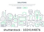 solutions   modern line design... | Shutterstock .eps vector #1024144876