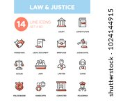 Law And Justice   Line Design...