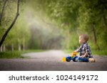 portrait of cute toddler boy... | Shutterstock . vector #1024149172
