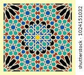 seamless pattern in moroccan... | Shutterstock .eps vector #1024151032