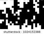 abstract black white pixel... | Shutterstock .eps vector #1024152388