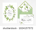 set of two templates for... | Shutterstock . vector #1024157572