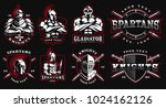 set of logos  badges with... | Shutterstock .eps vector #1024162126