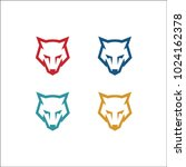 wolf head icon logo full color | Shutterstock .eps vector #1024162378