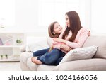 mother with her cute little...   Shutterstock . vector #1024166056