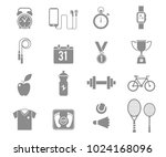 fitness and sport vector icons... | Shutterstock .eps vector #1024168096
