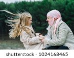 a woman with cancer is  next to ... | Shutterstock . vector #1024168465