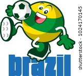 soccer ball mascot | Shutterstock .eps vector #1024170145