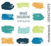 grunge brush stroke texture... | Shutterstock .eps vector #1024171075