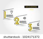 three yellow infographic... | Shutterstock .eps vector #1024171372