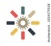 color set of objects for sewing ... | Shutterstock .eps vector #1024175518