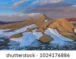 sunset in mud volcanoes. buzau... | Shutterstock . vector #1024176886