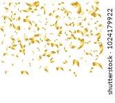 golden confetti. vector festive ... | Shutterstock .eps vector #1024179922