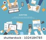 business meeting  audit  ... | Shutterstock .eps vector #1024184785