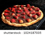 brazilian sweet pizza with... | Shutterstock . vector #1024187035