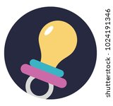 flat icon design of pacifier | Shutterstock .eps vector #1024191346