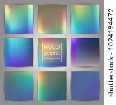 set of trendy holographic... | Shutterstock .eps vector #1024194472