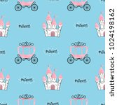 seamless princess pattern with... | Shutterstock .eps vector #1024198162