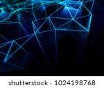 abstract network concept. 3d... | Shutterstock . vector #1024198768