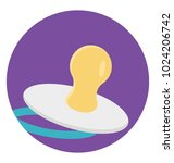 a pacifier vector icon in flat... | Shutterstock .eps vector #1024206742