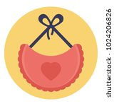 flat icon design of baby bib to ... | Shutterstock .eps vector #1024206826