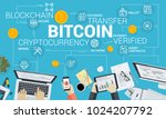 bitcoin. flat design style web... | Shutterstock .eps vector #1024207792