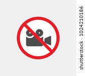 prohibiting vector sign.... | Shutterstock .eps vector #1024210186