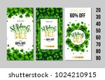 set of saint patrick's day sale ... | Shutterstock .eps vector #1024210915