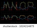stock market font   letters m ... | Shutterstock .eps vector #1024214875