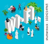 isomeric wi fi concept. web... | Shutterstock .eps vector #1024214965