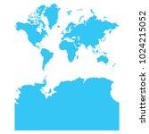 high detailed blue vector map   ... | Shutterstock .eps vector #1024215052