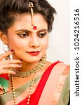 beautiful indian female model... | Shutterstock . vector #1024216516