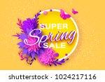origami violet super spring... | Shutterstock .eps vector #1024217116