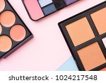 cosmetic products on pastel... | Shutterstock . vector #1024217548