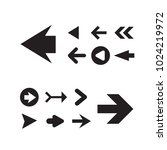 arrow icon set isolated on... | Shutterstock .eps vector #1024219972