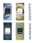luxury packaging design set... | Shutterstock .eps vector #1024219975
