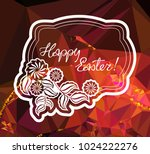 mosaic holiday label with... | Shutterstock .eps vector #1024222276