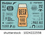 poster or banner with text beer ... | Shutterstock .eps vector #1024222558