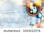 easter background with easter... | Shutterstock . vector #1024222576