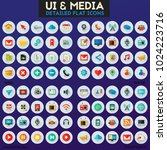 ui and multimedia big icon set | Shutterstock .eps vector #1024223716