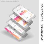flat design responsive admin... | Shutterstock .eps vector #1024223728