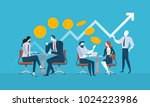 bitcoin consulting. flat design ... | Shutterstock .eps vector #1024223986