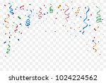 many falling colorful tiny... | Shutterstock .eps vector #1024224562