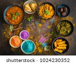 traditional assorted indian... | Shutterstock . vector #1024230352