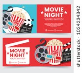 cinema tickets design concept.... | Shutterstock .eps vector #1024234342