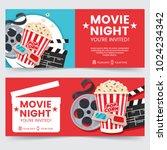 cinema tickets design concept.... | Shutterstock .eps vector #1024234342